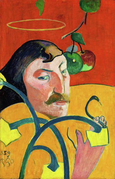 Wall Art - Painting - Self-portrait With Halo - Digital Remastered Edition by Paul Gauguin