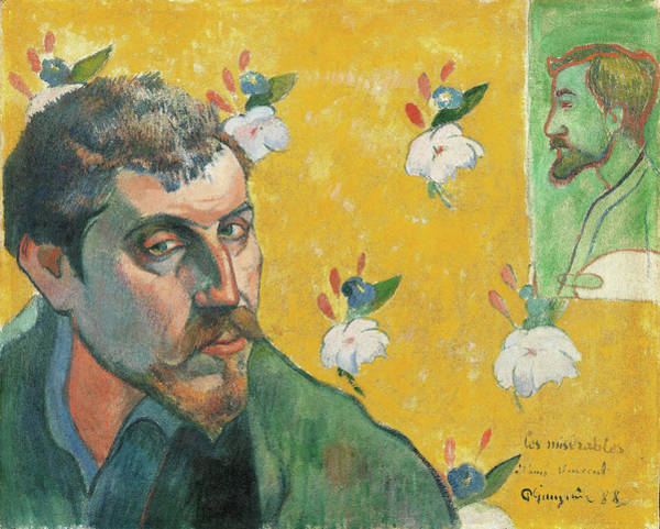 Gauguin Painting - Self-portrait With Portrait Of Emile Bernard - Digital Remastered Edition by Paul Gauguin