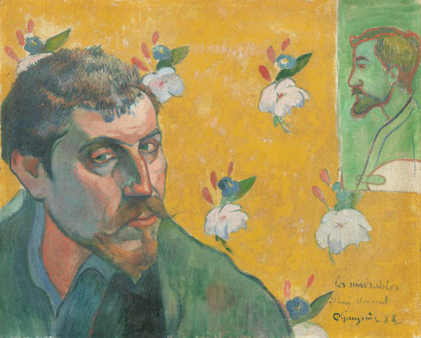 Wall Art - Painting - Self-portrait With Portrait Of Emile Bernard by Paul Gauguin