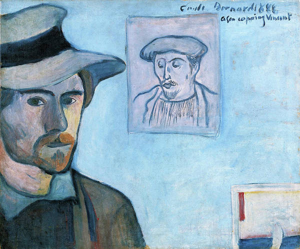 Wall Art - Painting - Self-portrait With Portrait Of Gauguin - Digital Remastered Edition by Emile Bernard