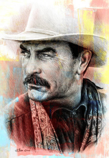 Wall Art - Mixed Media - Selleck Paint Edit by Andrew Read