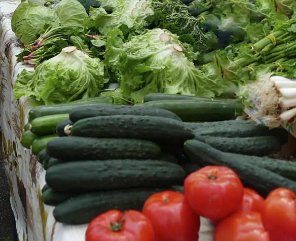 Photograph - Selling Fruit And Vegetables At The Green Market  by Steve Estvanik