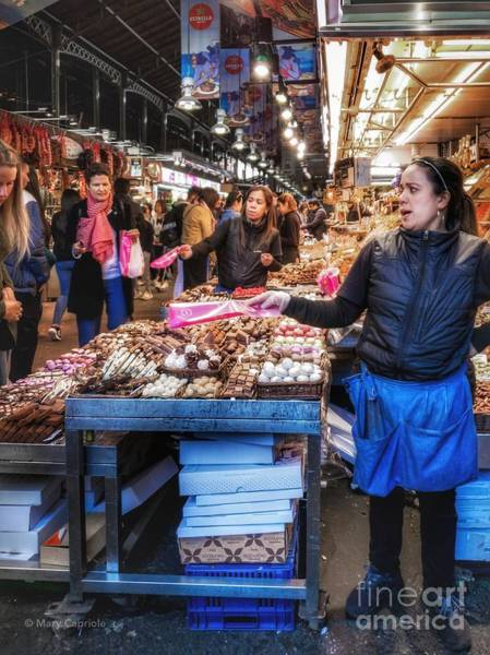 Photograph - Selling Sweets At La Boqueria by Mary Capriole