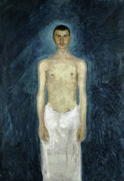 Wall Art - Painting - Semi-nude Self-portrait, 1905 by Richard Gerstl