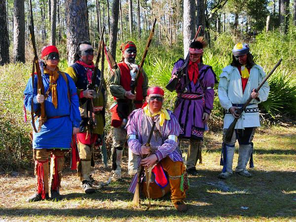 Wall Art - Photograph - Seminole Indian Warriors 1800s by David Lee Thompson