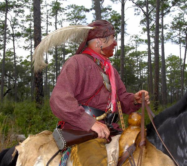 Wall Art - Photograph - Seminole Warrior On Horse by David Lee Thompson