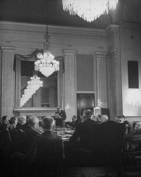 Republican Party Photograph - Sen John A Danaher Of Connecticut by Alfred Eisenstaedt