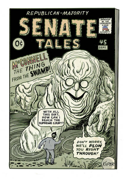 Drawing - Senate Tales by Peter Kuper