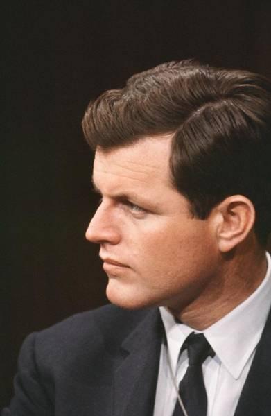 Headshot Photograph - Senator Edward Kennedy by Michael Ochs Archives