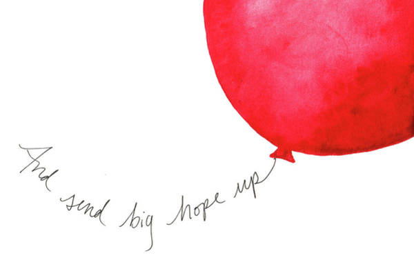 Painting - Send Big Hopes Up by Anna Elkins