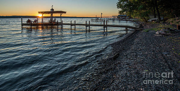Photograph - Seneca Lake Boat Dock by Michael D Miller