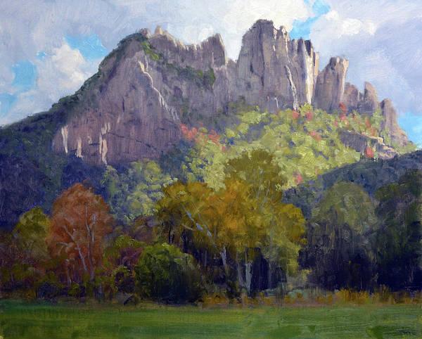 Wall Art - Painting - Seneca Rocks by Armand Cabrera