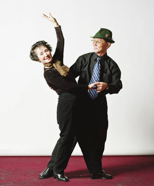 Heterosexual Couple Photograph - Senior Couple, Dancing, Portrait by Dae Seung Seo