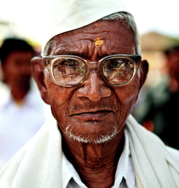Real People Photograph - Senior Man With Spectacles by Vinod Khapekar