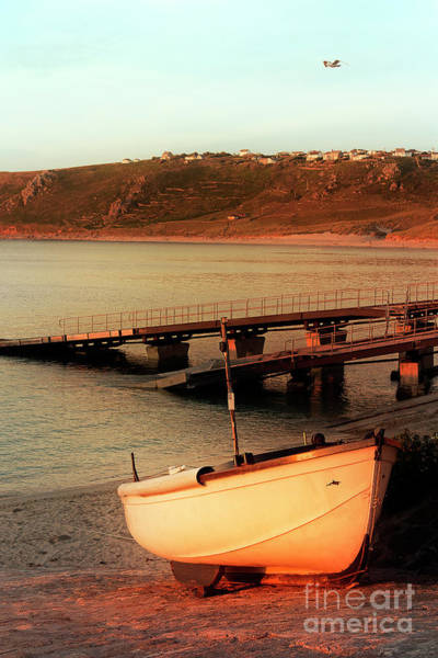 Sennen Cove Photograph - Sennen Cove Boat At Sunset by Terri Waters