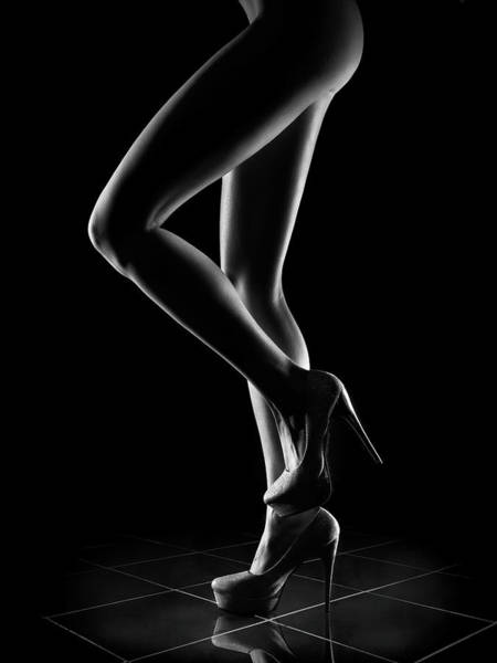 Muscular Wall Art - Photograph - Sensual Woman Outlines 1 by Johan Swanepoel