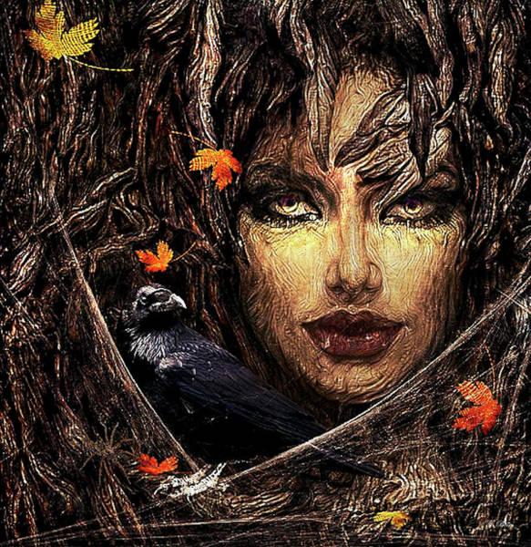 Wall Art - Mixed Media - Sensually Haunted Tree 003 by G Berry