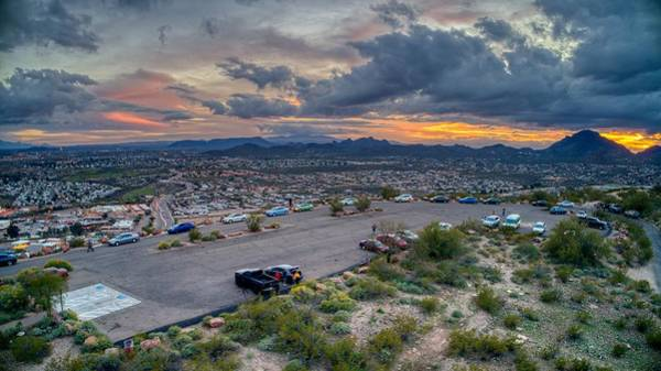 Photograph - Sentinel Park Tucson Arizona Sunset by Ants Drone Photography