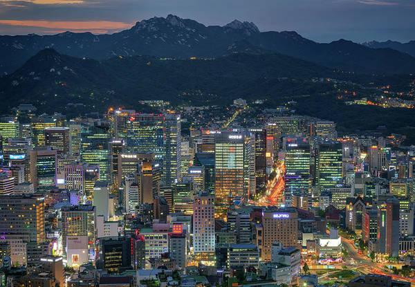 Photograph - Seoul At Night by Rick Berk