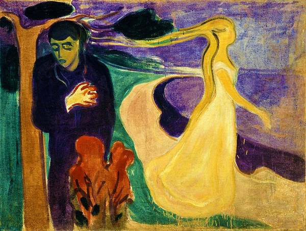 Norway Painting - Separation - Digital Remastered Edition by Edvard Munch