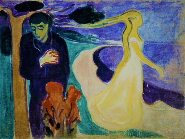 Wall Art - Painting - Separation - Original Bluecolor Edition by Edvard Munch