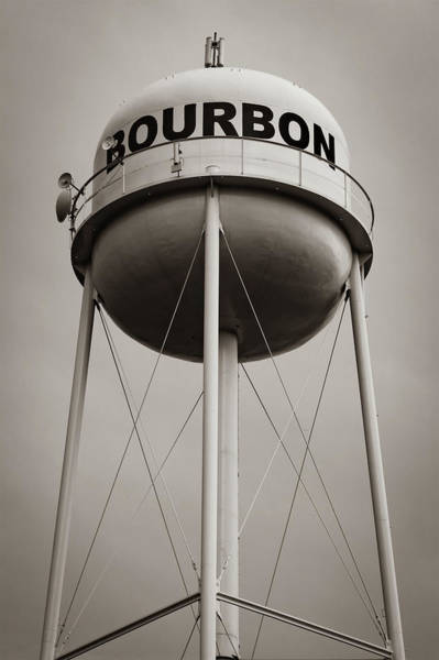 Photograph - Sepia Bourbon Whiskey Water Tower by Gregory Ballos