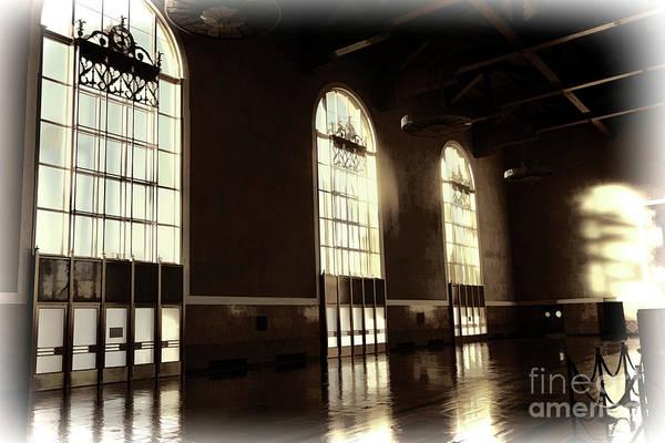 Wall Art - Digital Art - Sepia Tone Interior La Union Station  by Chuck Kuhn