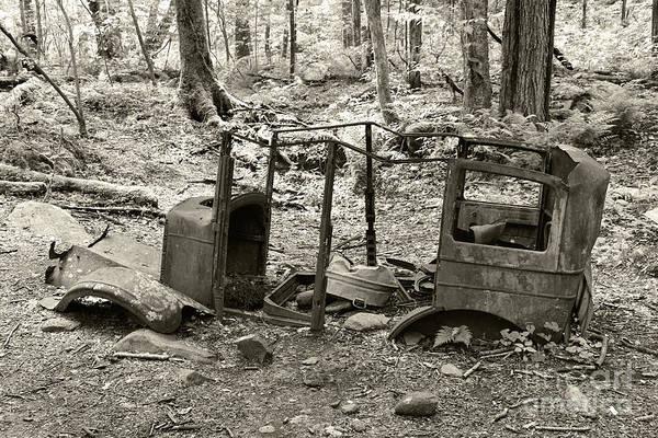 Photograph - Sepia Tone Vintage Auto by Phil Perkins