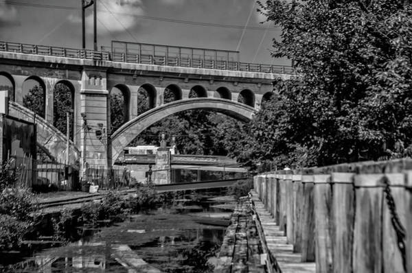 Wall Art - Photograph - September On The Manayunk Canal In Black And White by Bill Cannon