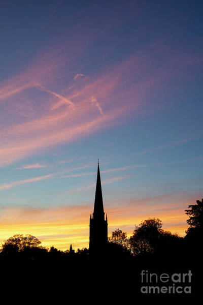 Photograph - September Sunset Burford Cotswolds by Tim Gainey