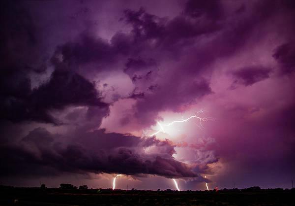 Photograph - September Thunderstorms 012 by NebraskaSC