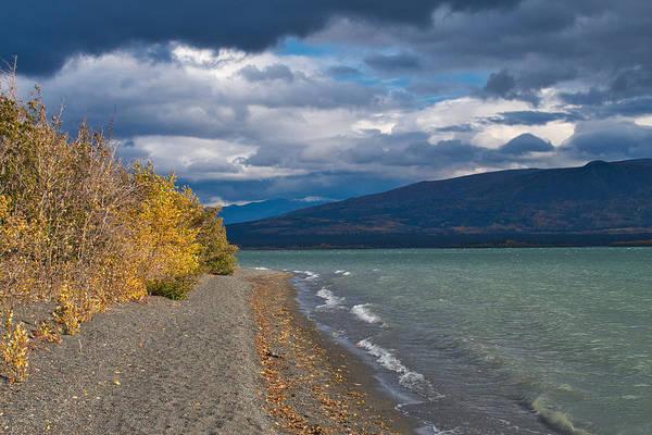 Haines Falls Photograph - September Wind - Dezadeash Lake - Yukon Territory by Cathy Mahnke