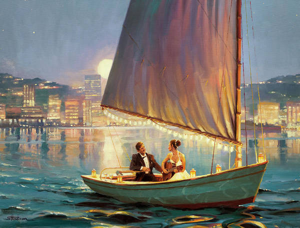 Ocean City Painting - Serenade by Steve Henderson