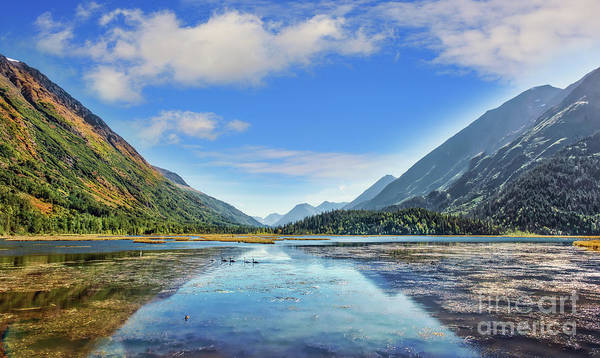 Photograph - Serene Alaskan Mountain Lake On The Kenai Peninsula During Autum by Patrick Wolf
