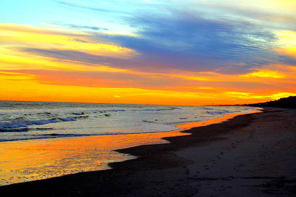 Photograph - Serene Beach Sunset by Cynthia Guinn
