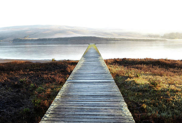Dock Of The Bay Photograph - Serene Dock On Empty Bay by James Baigrie