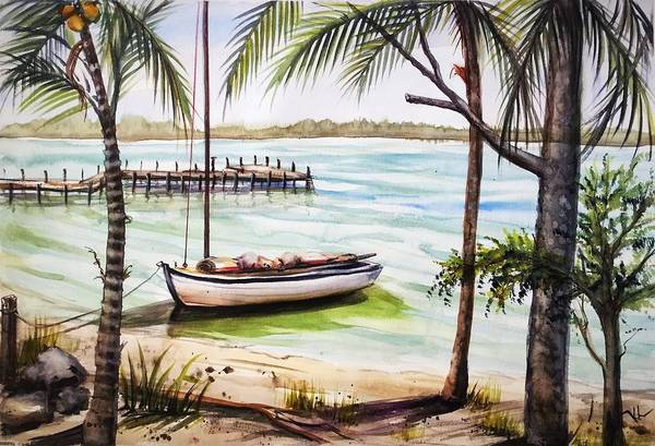 Painting - Serenity 6 by Katerina Kovatcheva