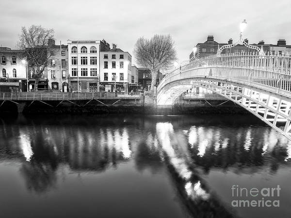 Wall Art - Photograph - Serenity At Night In Dublin by John Rizzuto