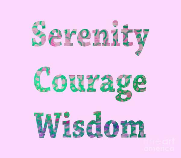Painting - Serenity Courage Wisdom 1002 by Corinne Carroll