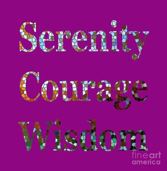 Digital Art - Serenity Courage Wisdom 1005 by Corinne Carroll