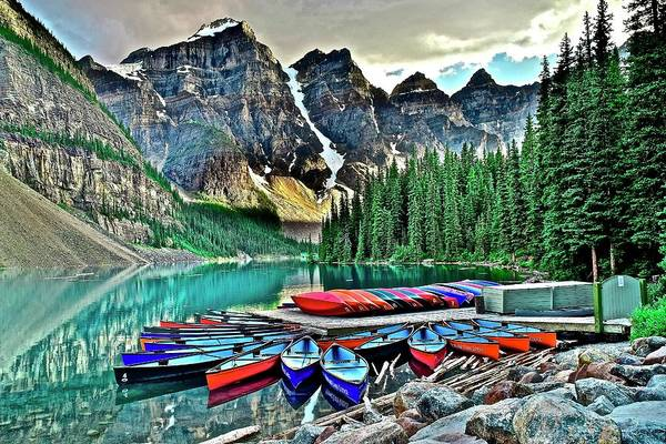 Wall Art - Photograph - Serenity In Banff by Frozen in Time Fine Art Photography