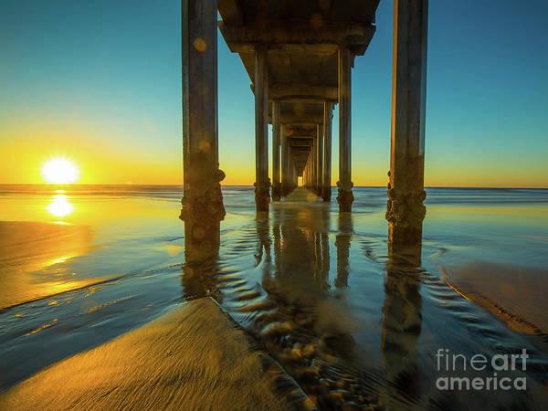 Scripps Pier Photograph - Serenity In San Diego Sunset 2 by Edward Fielding