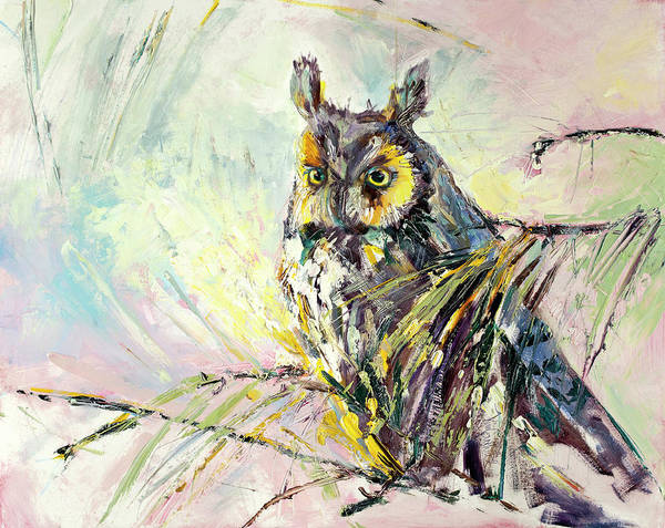 Wall Art - Painting - Serenity Owl Painting by Kim Guthrie