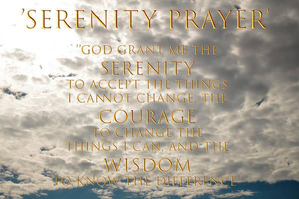 Serenity Prayer Mixed Media - Serenity Prayer by Erik Mortensen