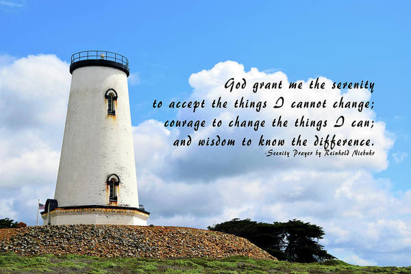 Photograph - Serenity Prayer Piedras Blancas Lighthouse Clouds by Floyd Snyder