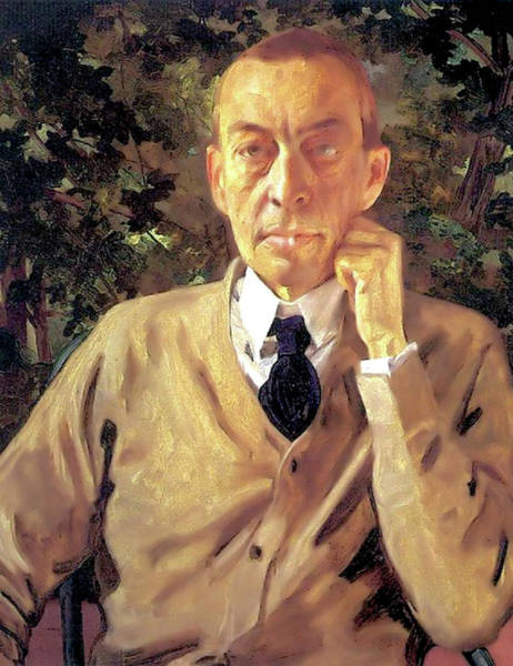 Painting - Sergei Rachmaninoff  by Konstantin Somov