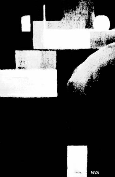 Painting - Seriously Black And White by VIVA Anderson