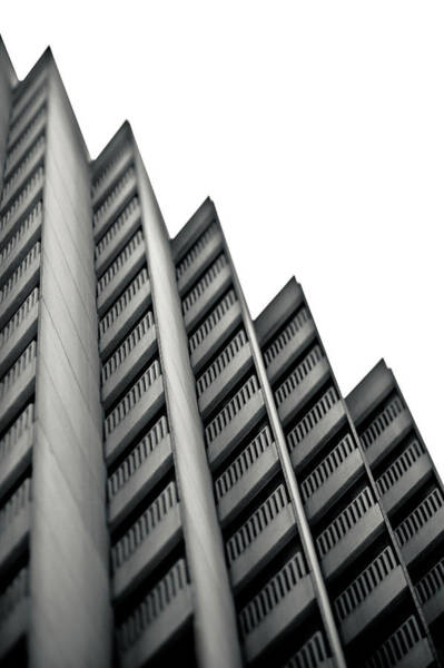 Parking Garage Photograph - Serrated Profile Of A Concrete Building by Eddy Joaquim