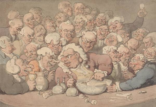 Drawing - Serving Punch by Thomas Rowlandson