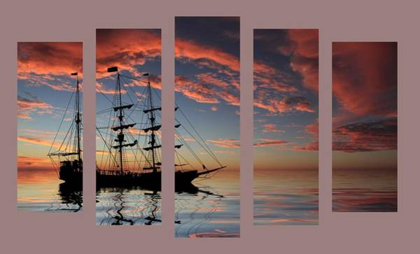Photograph - Set 22 - Pirate Ship At Sunset by Shane Bechler
